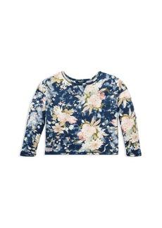 Ralph Lauren: Polo Polo Ralph Lauren Girls' French Terry Floral Sweatshirt - Big Kid