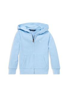 Ralph Lauren: Polo Polo Ralph Lauren Girls' French Terry Zip-Up Hoodie - Little Kid