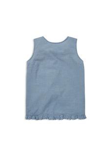Ralph Lauren: Polo Polo Ralph Lauren Girls' Gingham Crossback Cotton Top - Big Kid