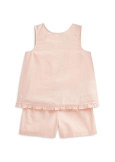 Ralph Lauren: Polo Polo Ralph Lauren Girls' Gingham Plaid Linen Top & Shorts Set - Little Kid