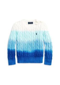 Ralph Lauren: Polo Polo Ralph Lauren Girls' Gradual Cable Knit Sweater - Little Kid