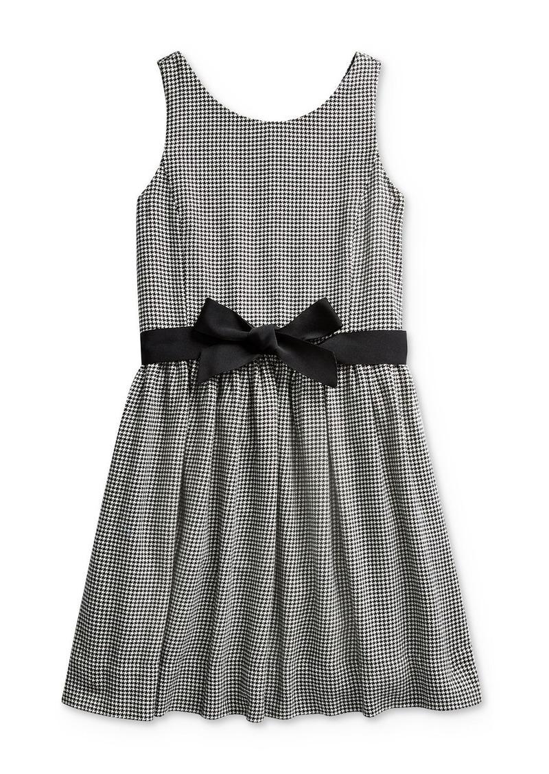Ralph Lauren: Polo Polo Ralph Lauren Girls' Houndstooth Print Dress - Big Kid