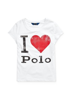 Ralph Lauren: Polo Polo Ralph Lauren Girls' I Heart Polo Tee - Big Kid