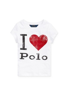 Ralph Lauren: Polo Polo Ralph Lauren Girls' I Heart Polo Tee - Little Kid
