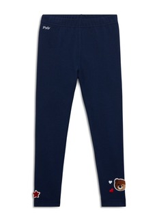 Ralph Lauren: Polo Polo Ralph Lauren Girls' Jersey Leggings with Chenille Patches - Little Kid