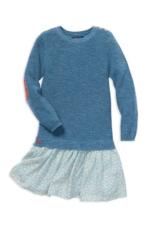Ralph Lauren: Polo Polo Ralph Lauren Girls' Layered Sweater Dress - Little Kid