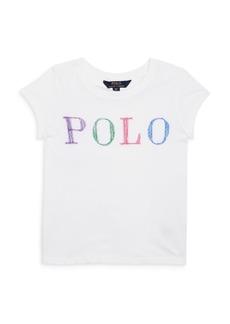 Ralph Lauren: Polo Polo Ralph Lauren Girls' Logo Tee- Big Kid