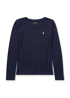 Ralph Lauren: Polo Polo Ralph Lauren Girls' Long Sleeve Tee - Big Kid