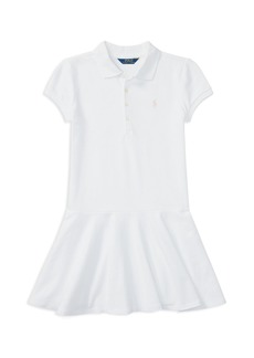 Ralph Lauren: Polo Polo Ralph Lauren Girls' Mesh Polo Shirt Dress - Big Kid