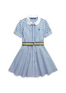 Ralph Lauren: Polo Polo Ralph Lauren Girls' Mixed Stripe Dress - Little Kid