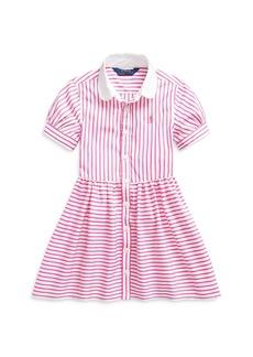 Ralph Lauren: Polo Polo Ralph Lauren Girls' Mixed Stripe Shirt Dress - Little Kid