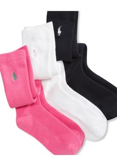 Ralph Lauren: Polo Polo Ralph Lauren 3 Pack Knee High Socks, Little Girls & Big Girls