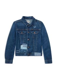 Ralph Lauren: Polo Polo Ralph Lauren Girls' Patchwork Denim Jacket - Big Kid