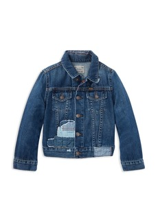 Ralph Lauren: Polo Polo Ralph Lauren Girls' Patchwork Denim Jacket - Little Kid