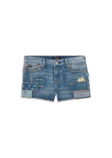 Ralph Lauren: Polo Polo Ralph Lauren Girls' Patchwork Denim Shorts - Big Kid