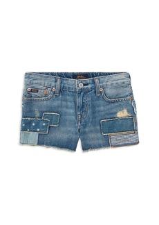 Ralph Lauren: Polo Polo Ralph Lauren Girls' Patchwork Denim Shorts - Little Kid