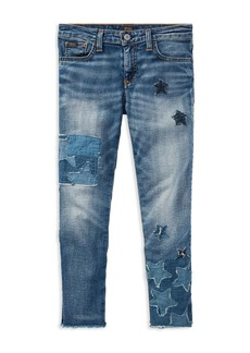 Ralph Lauren: Polo Polo Ralph Lauren Girls' Patchwork Star Jeans - Big Kid