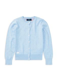 Ralph Lauren: Polo Polo Ralph Lauren Girls' Pima Cotton Cardigan - Little Kid