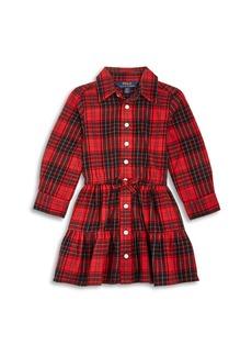 Ralph Lauren: Polo Polo Ralph Lauren Girls' Plaid Twill Shirt Dress - Little Kid