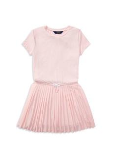 Ralph Lauren: Polo Polo Ralph Lauren Girls' Pleated Tee Dress - Big Kid