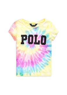 Ralph Lauren: Polo Polo Ralph Lauren Girls' Polo Tie-Dyed Tee - Little Kid