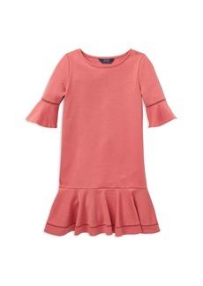 Ralph Lauren: Polo Polo Ralph Lauren Girls' Ponte Bell-Sleeve Drop-Waist Dress - Big Kid