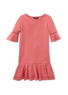 Ralph Lauren: Polo Polo Ralph Lauren Girls' Ponte Bell-Sleeve Drop-Waist Dress - Little Kid