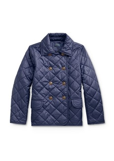 Ralph Lauren: Polo Polo Ralph Lauren Girls' Quilted Double-Breasted Jacket - Big Kid