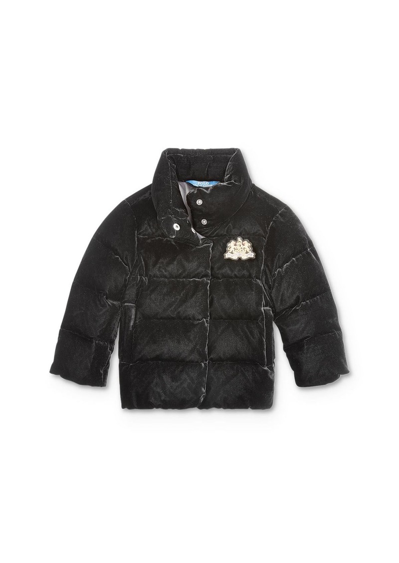 Ralph Lauren: Polo Polo Ralph Lauren Girls' Quilted Velvet Down Jacket - Little Kid