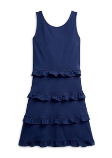 Ralph Lauren: Polo Polo Ralph Lauren Girls' Ruffle Tier Dress - Big Kid