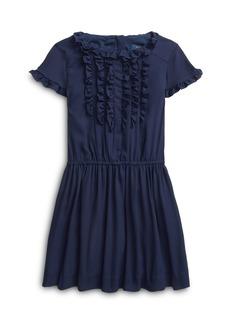 Ralph Lauren: Polo Polo Ralph Lauren Girls' Ruffle Trim Crepe Dress - Little Kid