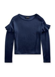Ralph Lauren: Polo Polo Ralph Lauren Girls' Ruffle-Trim Top - Big Kid