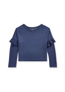Ralph Lauren: Polo Polo Ralph Lauren Girls' Ruffle-Trim Top - Little Kid
