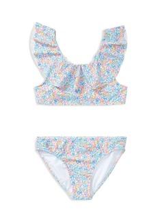 Ralph Lauren: Polo Polo Ralph Lauren Girls' Ruffled 2-Piece Floral-Print Swimsuit - Big Kid