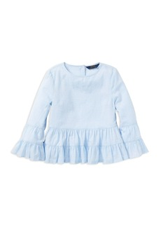 Ralph Lauren: Polo Polo Ralph Lauren Girls' Ruffled Cotton Top & Camisole Set - Big Kid