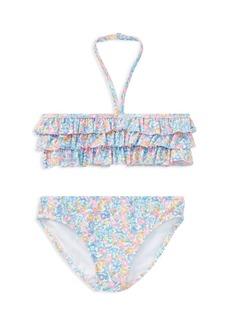Ralph Lauren: Polo Polo Ralph Lauren Girls' Ruffled Floral 2-Piece Swimsuit - Little Kid