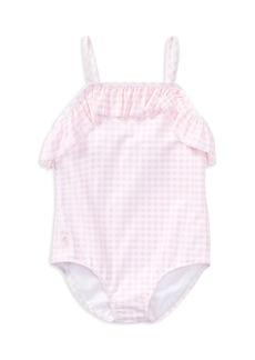 Ralph Lauren: Polo Polo Ralph Lauren Girls' Ruffled Gingham-Print Swimsuit - Little Kid