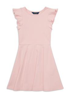 Ralph Lauren: Polo Polo Ralph Lauren Girls' Ruffled Ponte Dress - Big Kid