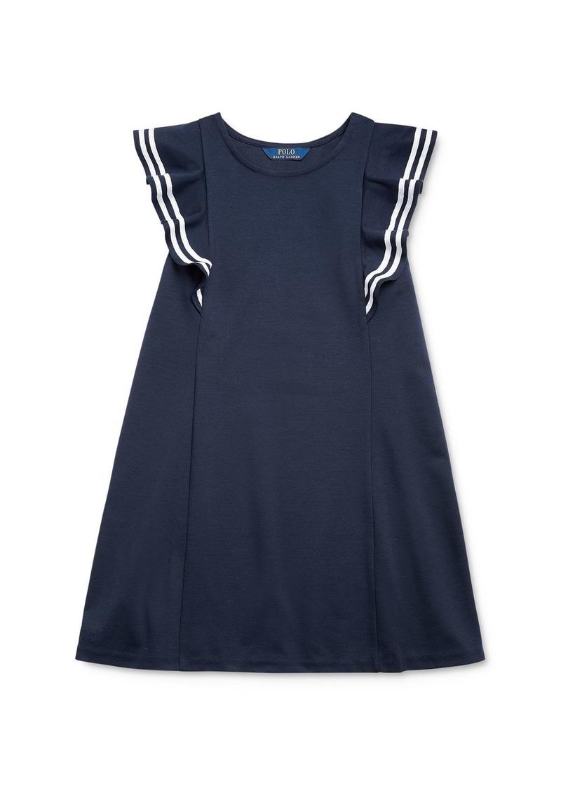 Ralph Lauren: Polo Polo Ralph Lauren Girls' Ruffled Ponte Dress - Little Kid
