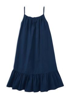 Ralph Lauren: Polo Polo Ralph Lauren Girls' Ruffled Seersucker Dress - Big Kid