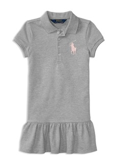 Ralph Lauren: Polo Polo Ralph Lauren Girls' Ruffled Shirt Dress - Little Kid