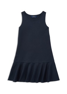 Ralph Lauren: Polo Polo Ralph Lauren Girls' Ruffled Stretch Ponte Dress - Big Kid