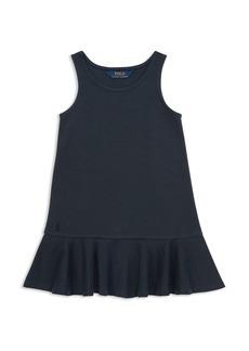 Ralph Lauren: Polo Polo Ralph Lauren Girls' Ruffled Stretch Ponte Dress - Little Kid