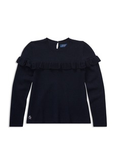 Ralph Lauren: Polo Polo Ralph Lauren Girls' Ruffled Sweater - Big Kid