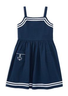 Ralph Lauren: Polo Polo Ralph Lauren Girls' Seersucker Anchor Dress - Little Kid
