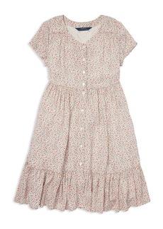 Ralph Lauren: Polo Polo Ralph Lauren Girls' Shirred Floral Dress - Big Kid