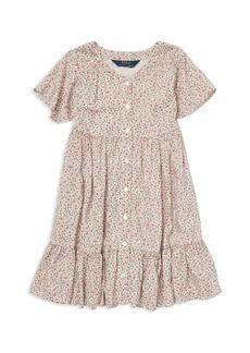 Ralph Lauren: Polo Polo Ralph Lauren Girls' Shirred Floral Dress - Little Kid
