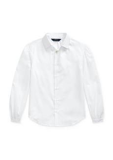 Ralph Lauren: Polo Polo Ralph Lauren Girls' Shirred Shirt - Big Kid