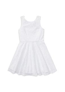 Ralph Lauren: Polo Polo Ralph Lauren Girls' Sleeveless Lace Dress - Big Kid