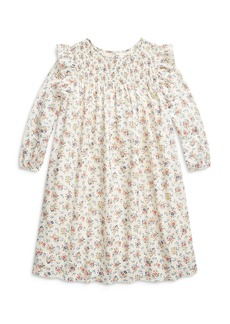 Ralph Lauren: Polo Polo Ralph Lauren Girls' Smocked Floral Print Cotton Dress - Big Kid